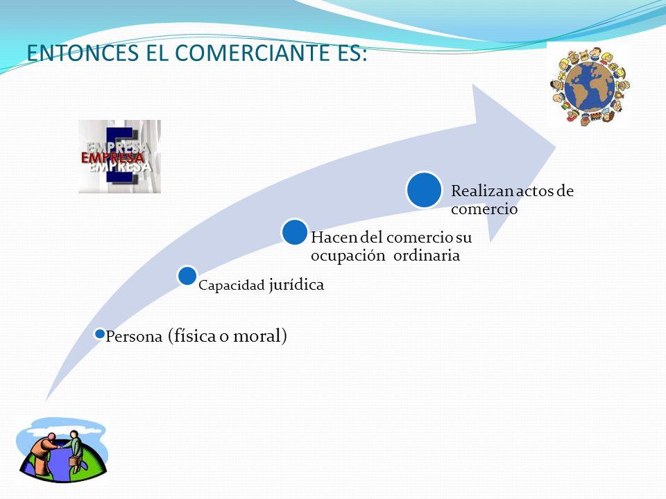 ENTONCES EL COMERCIANTE ES: