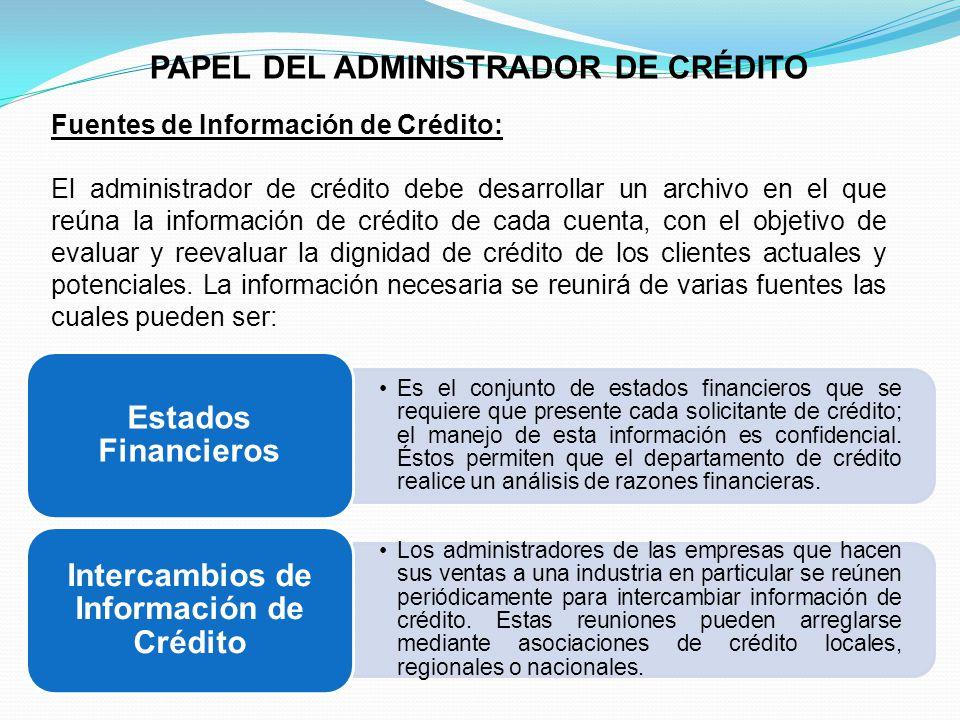 Intercambios de Información de Crédito