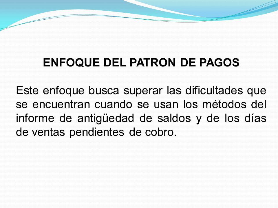 ENFOQUE DEL PATRON DE PAGOS