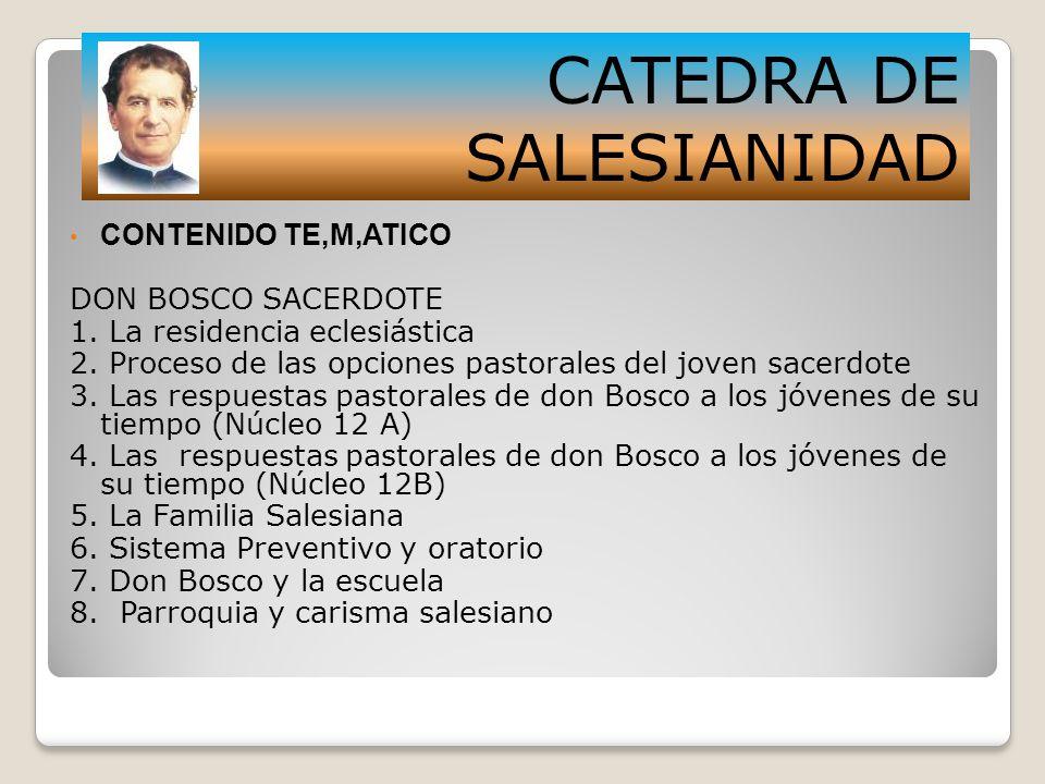 CATEDRA DE SALESIANIDAD