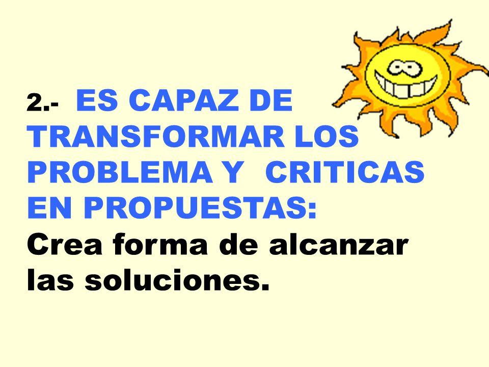 Crea forma de alcanzar las soluciones.
