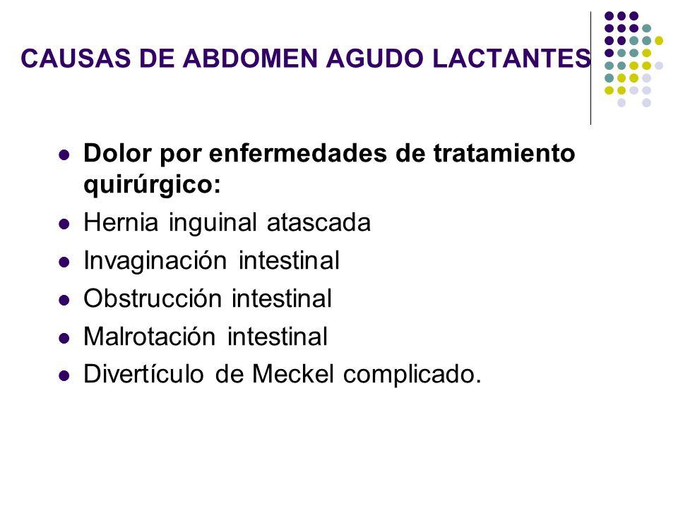 CAUSAS DE ABDOMEN AGUDO LACTANTES
