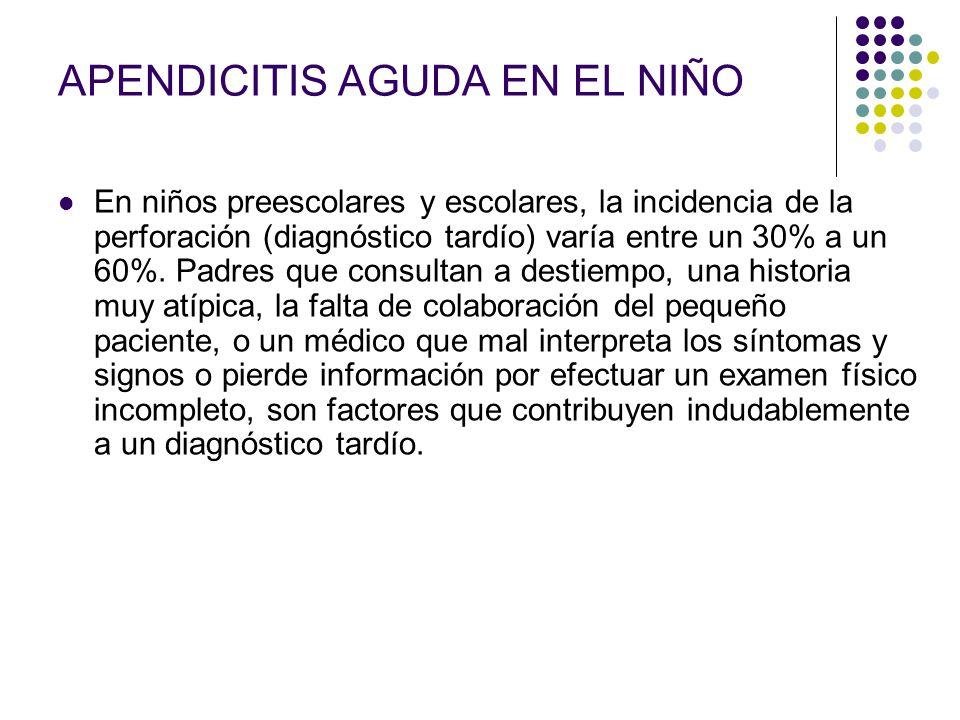 APENDICITIS AGUDA EN EL NIÑO