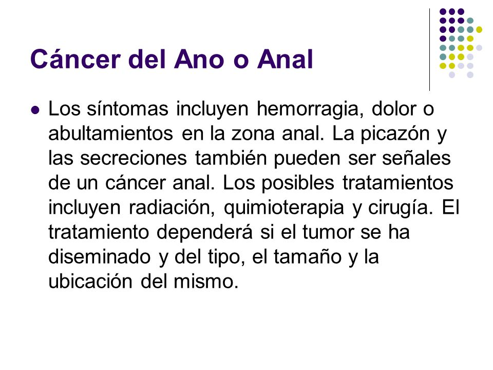 Cáncer del Ano o Anal