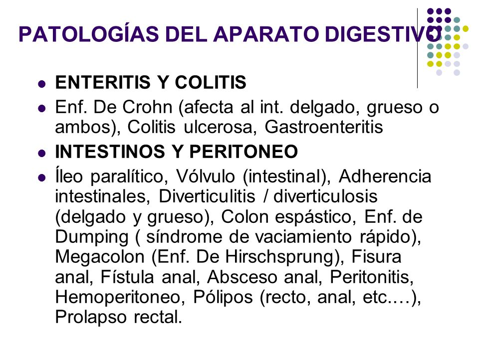 PATOLOGÍAS DEL APARATO DIGESTIVO