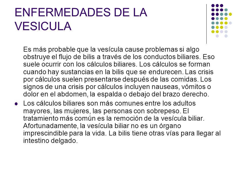 ENFERMEDADES DE LA VESICULA