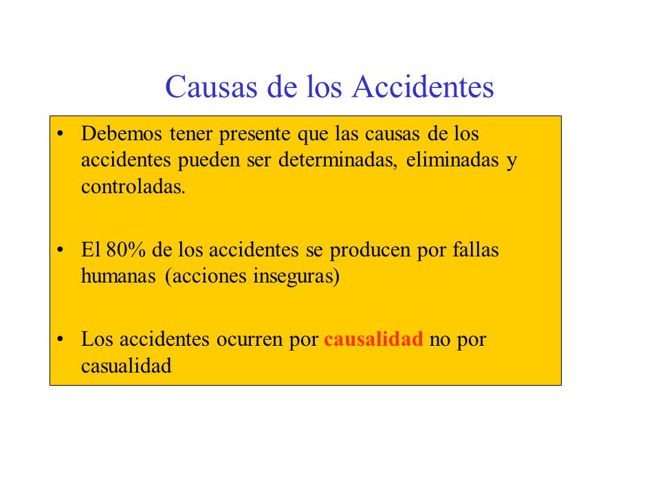 Causas de los Accidentes