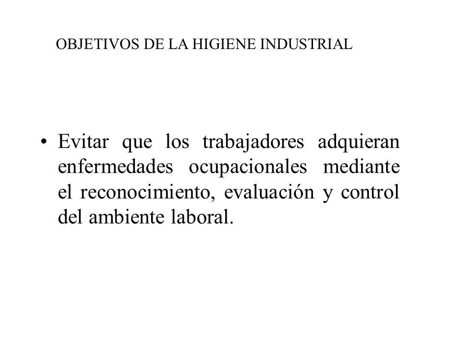OBJETIVOS DE LA HIGIENE INDUSTRIAL