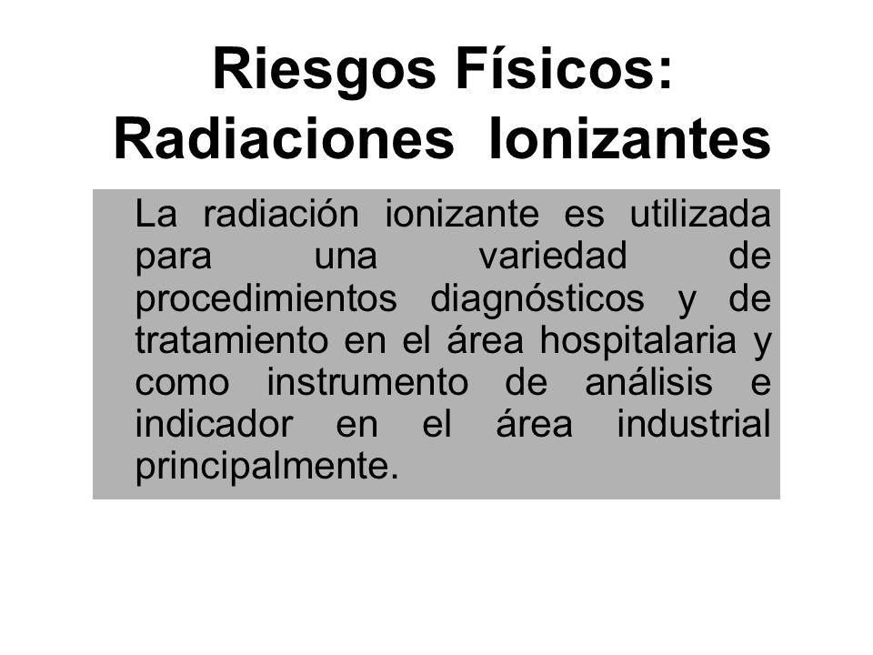 Riesgos Físicos: Radiaciones Ionizantes