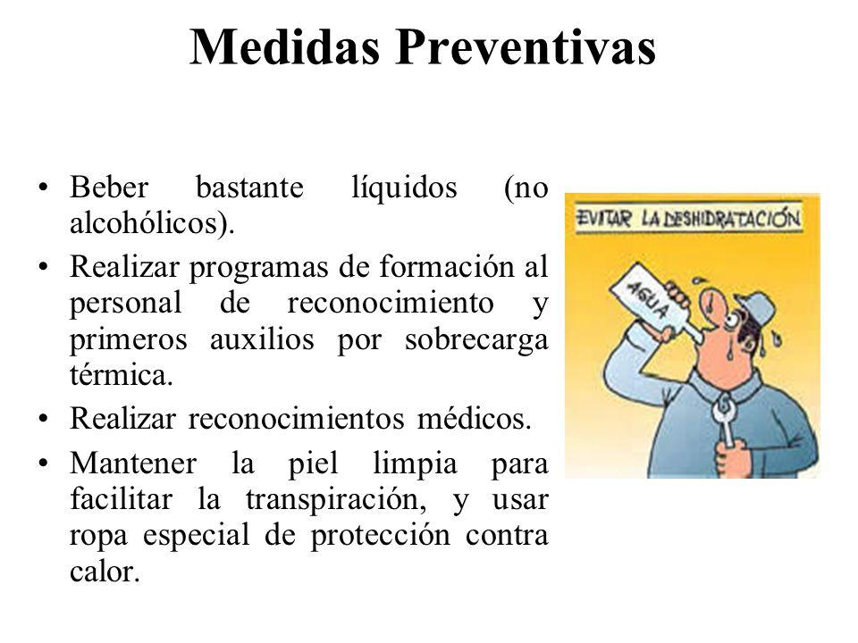 Medidas Preventivas Beber bastante líquidos (no alcohólicos).