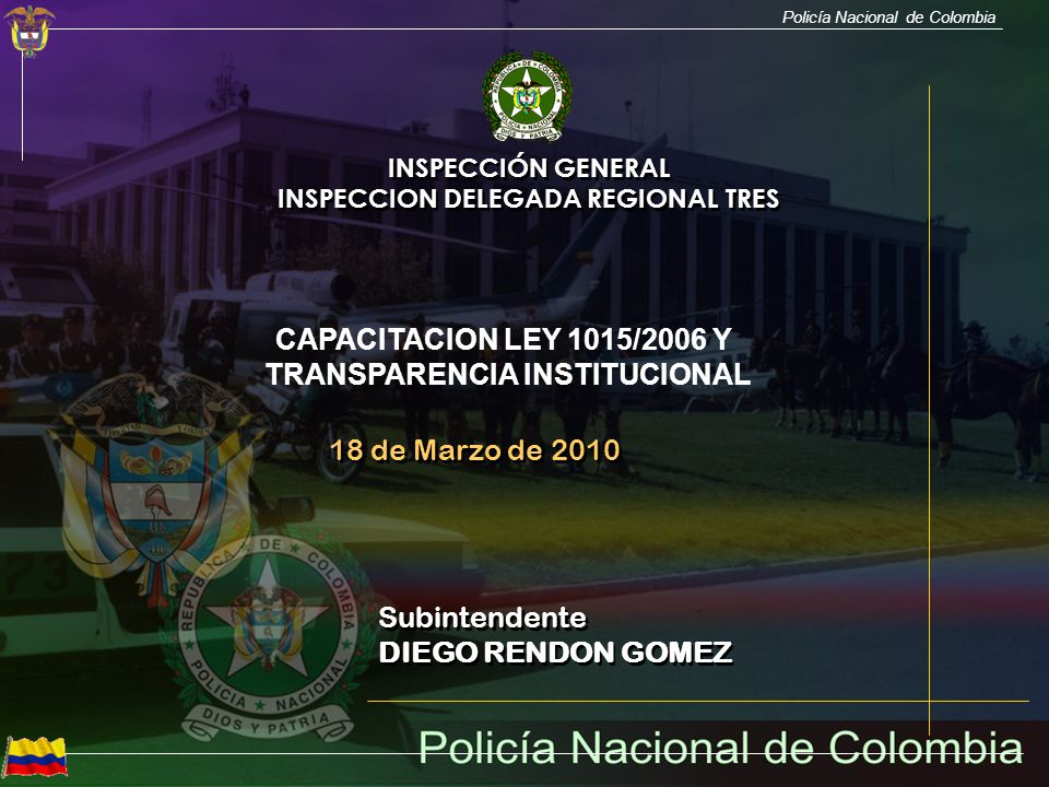 INSPECCION DELEGADA REGIONAL TRES TRANSPARENCIA INSTITUCIONAL