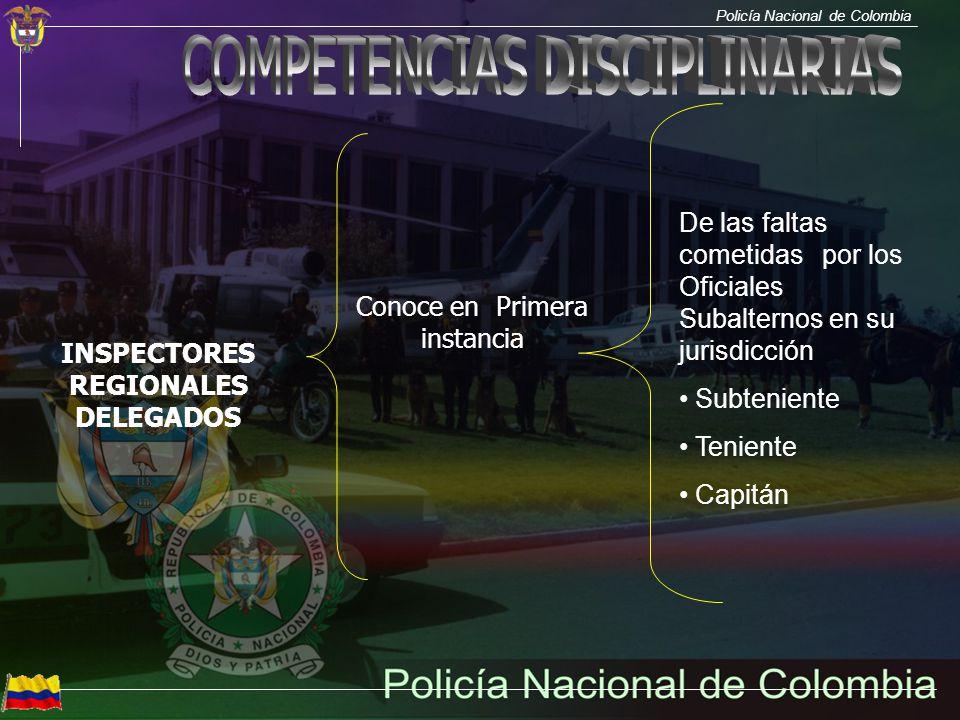 INSPECTORES REGIONALES DELEGADOS