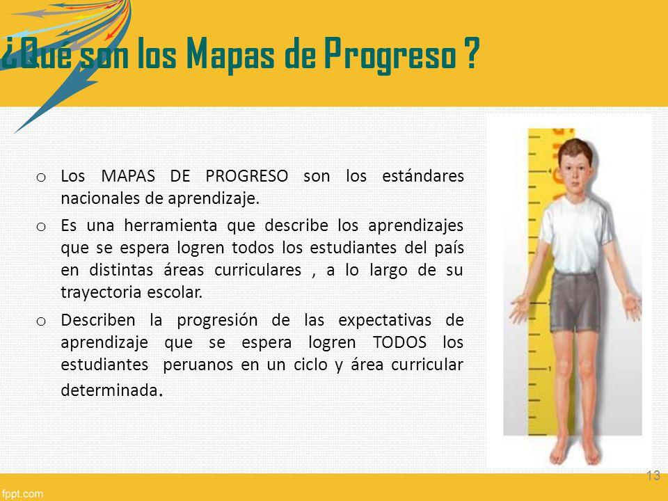 ¿Qué son los Mapas de Progreso