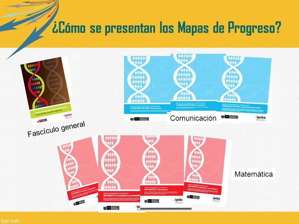 ¿Cómo se presentan los Mapas de Progreso