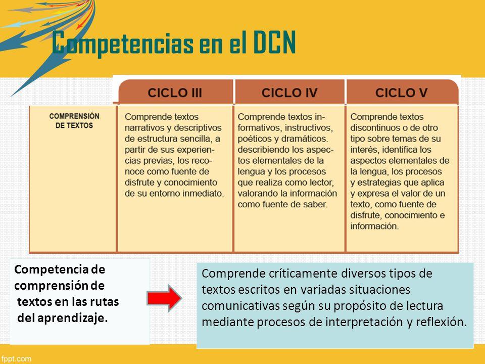 Competencias en el DCN Competencias en el DCN