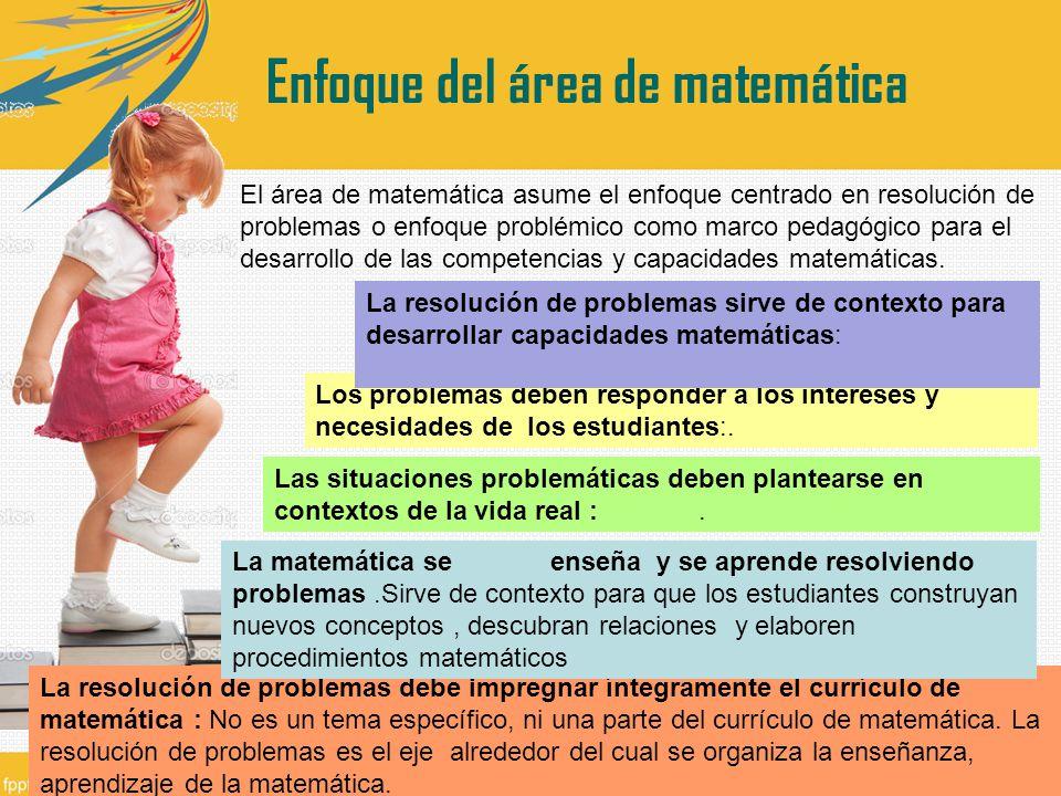 Enfoque del área de matemática