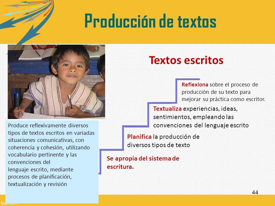 Producción de textos Textos escritos