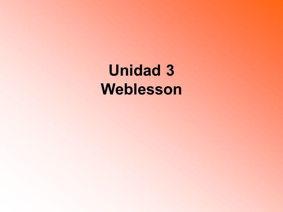 Unidad 3 Weblesson