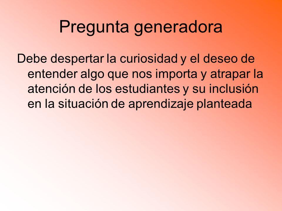 Pregunta generadora