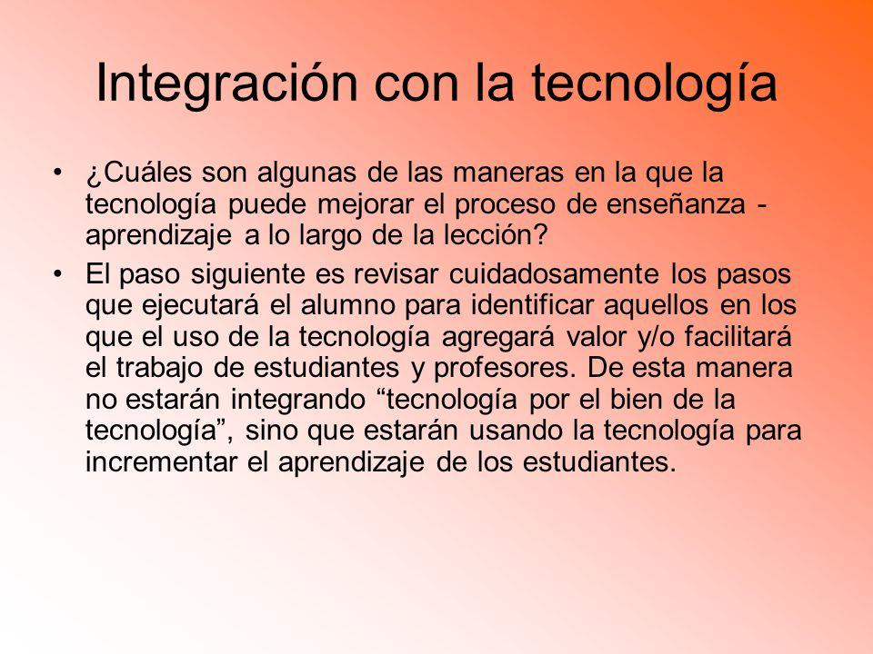 Integración con la tecnología
