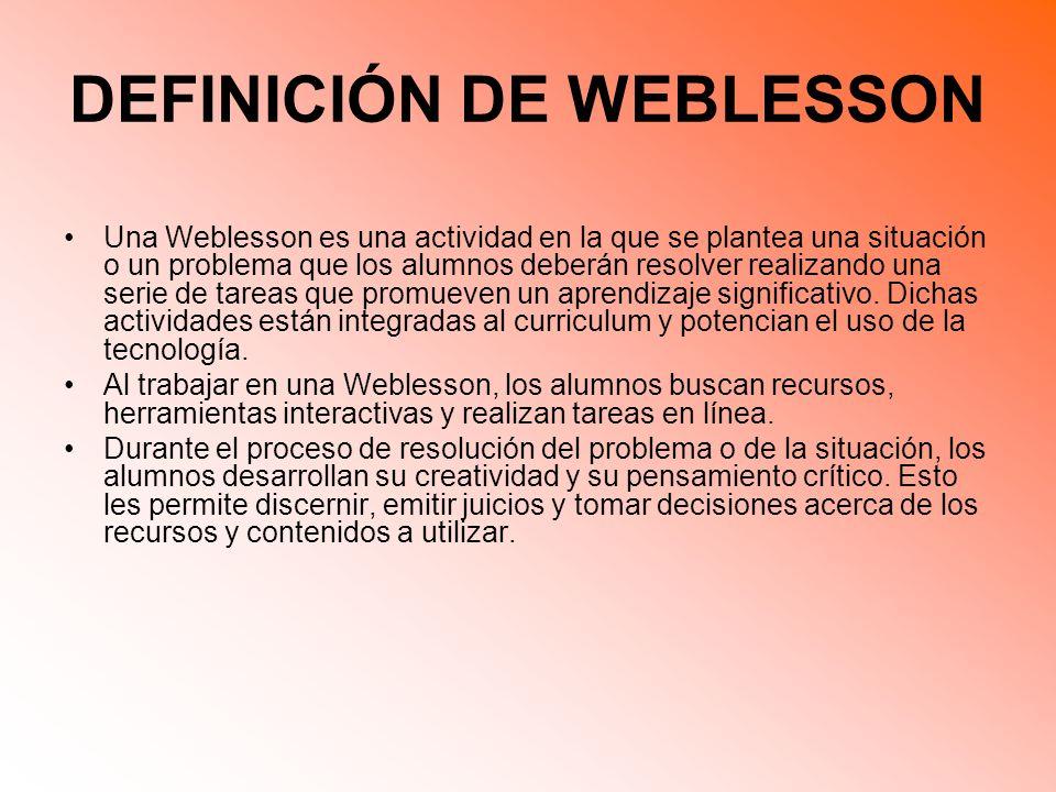 DEFINICIÓN DE WEBLESSON