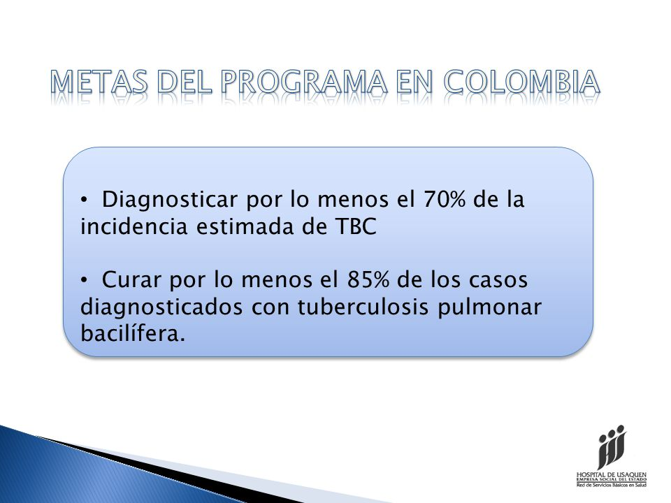 METAS DEL PROGRAMA EN COLOMBIA