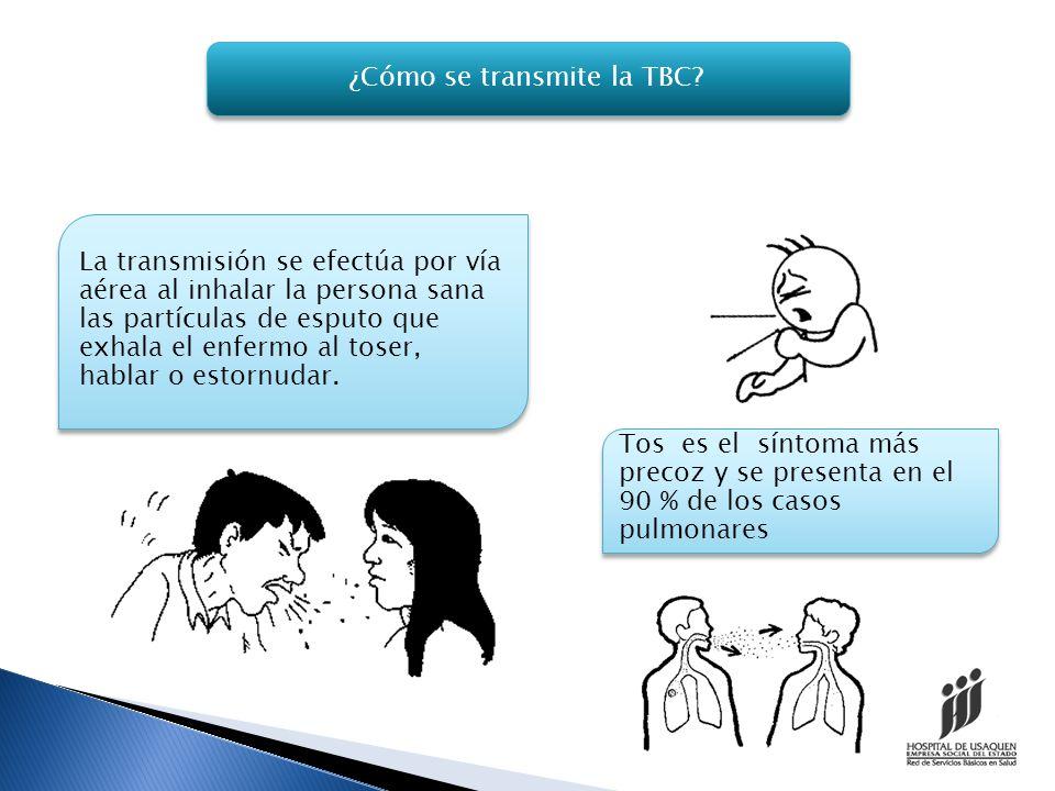 ¿Cómo se transmite la TBC