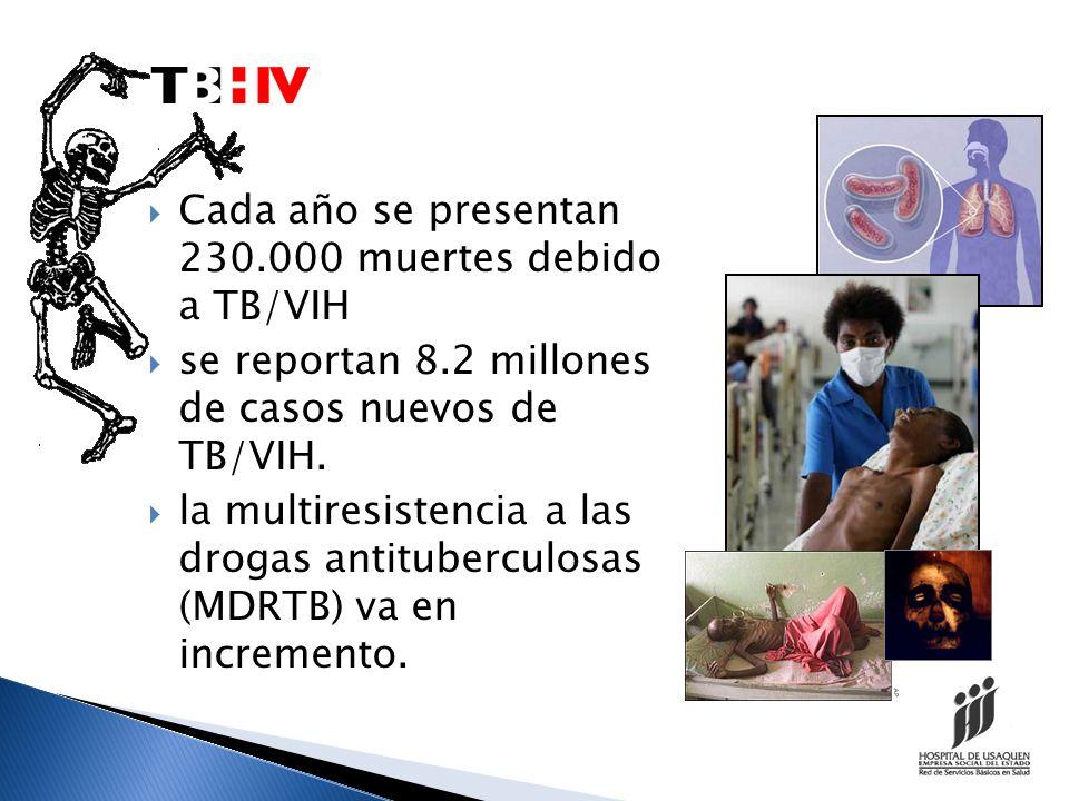 Cada año se presentan 230.000 muertes debido a TB/VIH