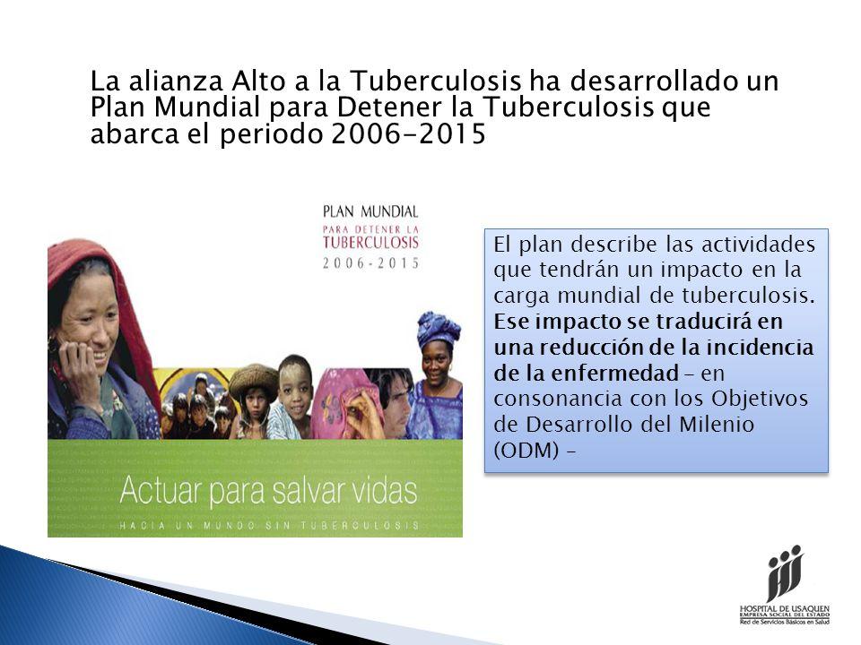 La alianza Alto a la Tuberculosis ha desarrollado un Plan Mundial para Detener la Tuberculosis que abarca el periodo 2006-2015
