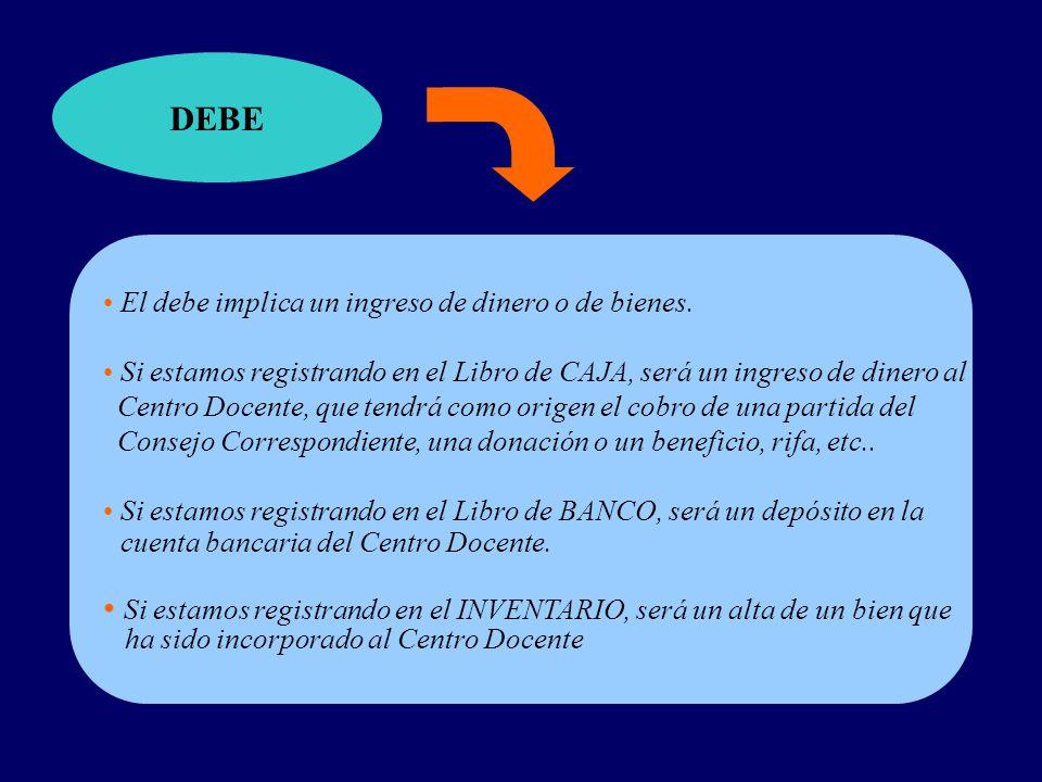 cuenta bancaria del Centro Docente.
