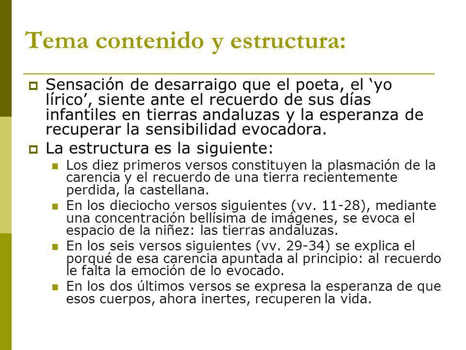 Tema contenido y estructura: