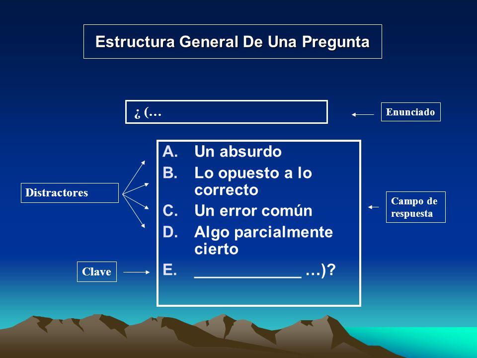 Estructura General De Una Pregunta