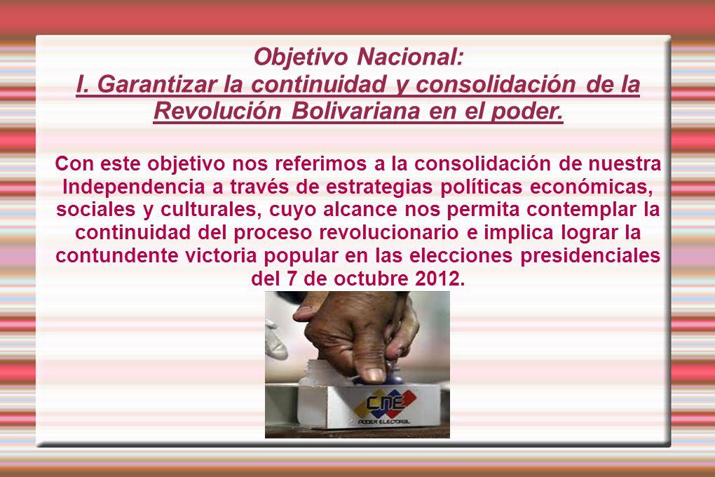 Objetivo Nacional: I.