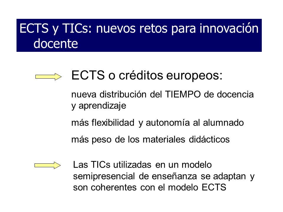 ECTS y TICs: nuevos retos para innovación docente