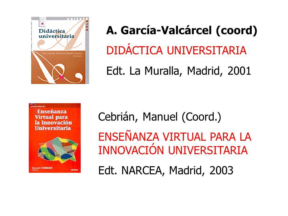 García-Valcárcel (coord)