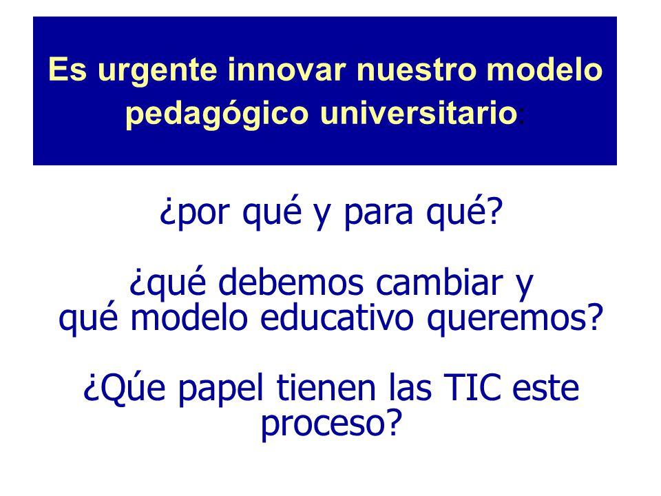 Es urgente innovar nuestro modelo pedagógico universitario: