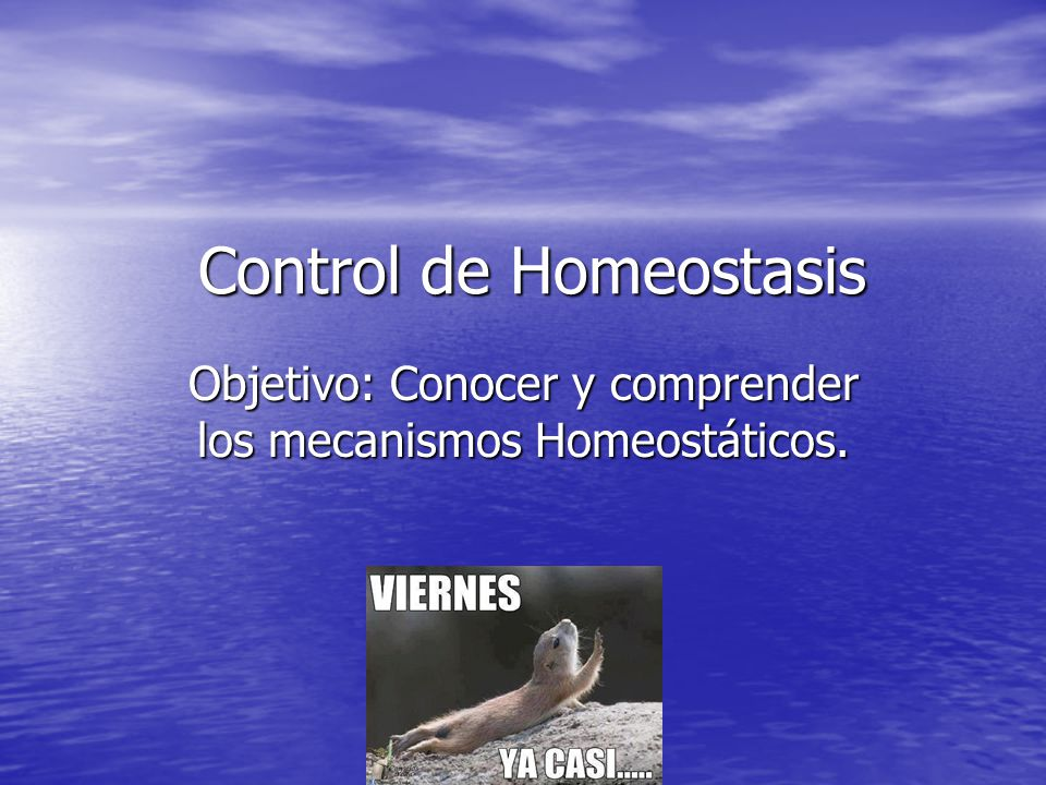 Control de Homeostasis