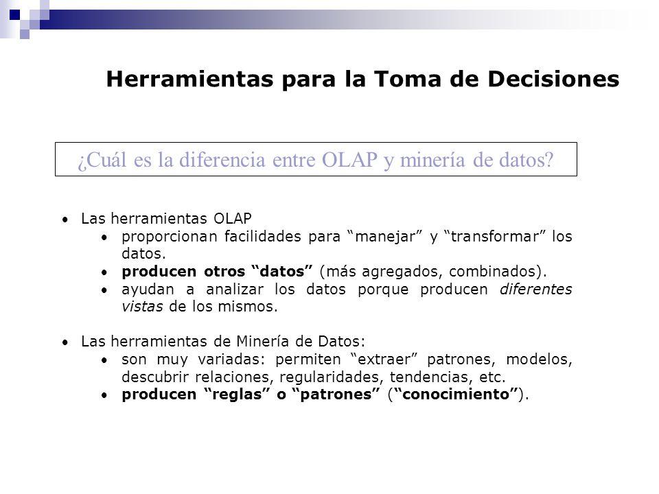 ¿Cuál es la diferencia entre OLAP y minería de datos