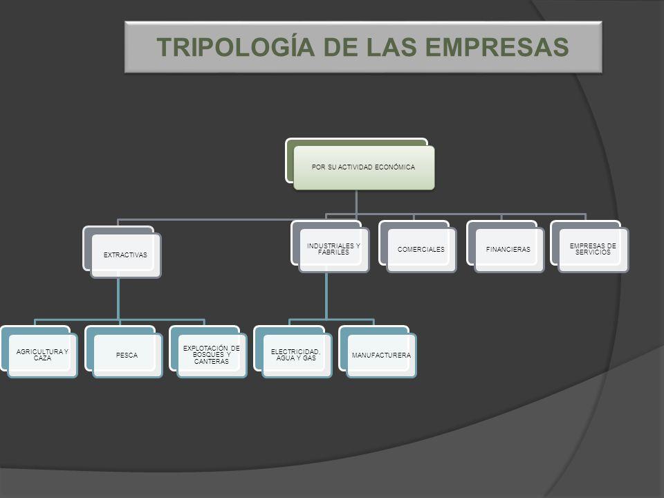 TRIPOLOGÍA DE LAS EMPRESAS