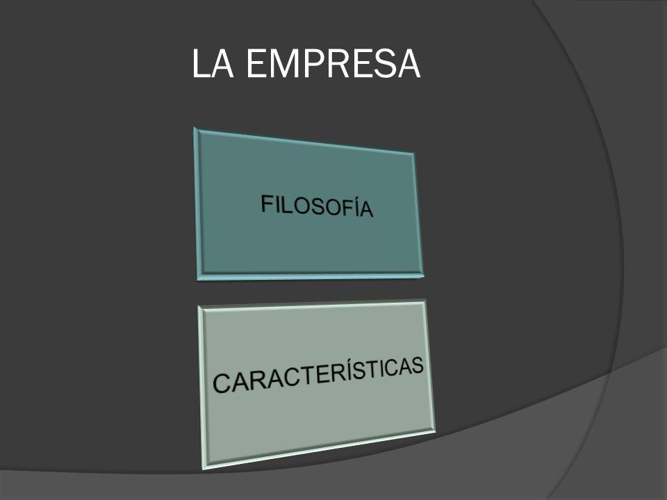 LA EMPRESA FILOSOFÍA CARACTERÍSTICAS