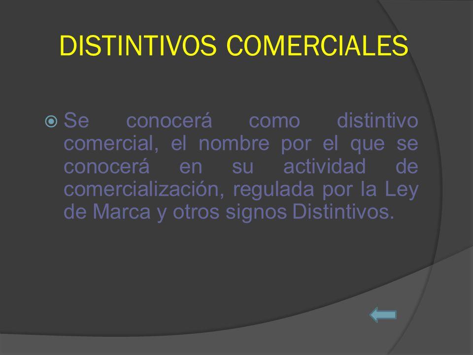 DISTINTIVOS COMERCIALES