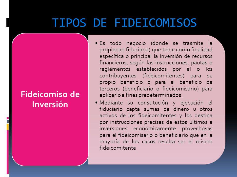 Fideicomiso de Inversión