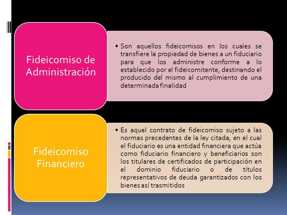 Fideicomiso de Administración Fideicomiso Financiero