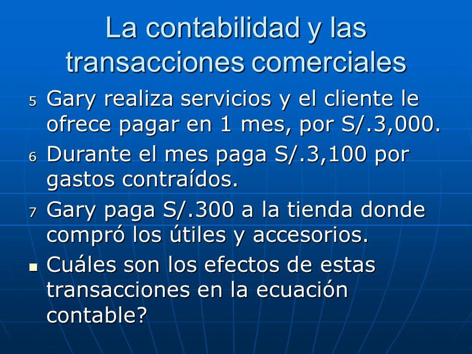 La contabilidad y las transacciones comerciales