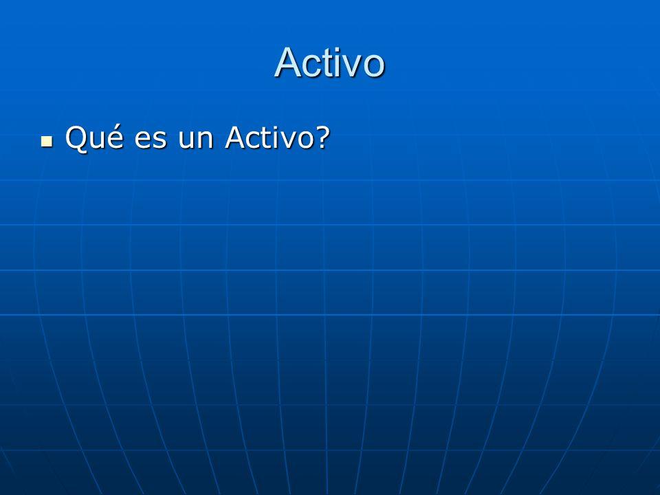 Activo Qué es un Activo