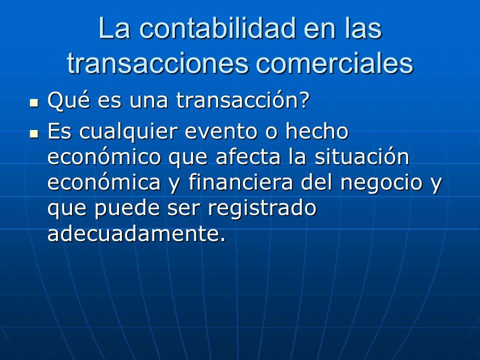 La contabilidad en las transacciones comerciales