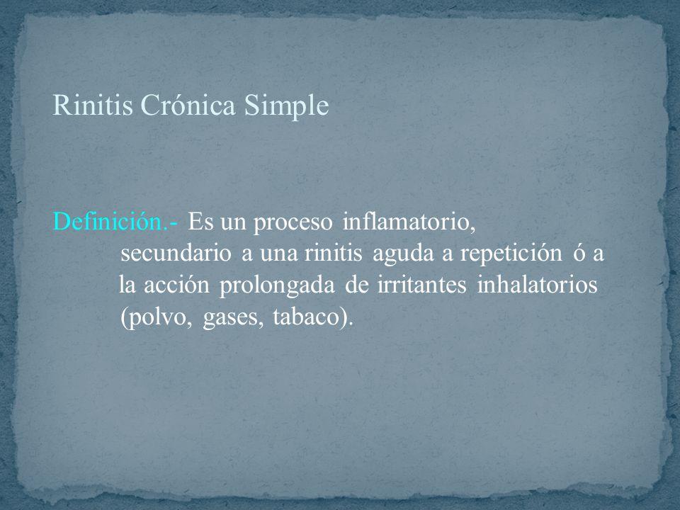 Rinitis Crónica Simple