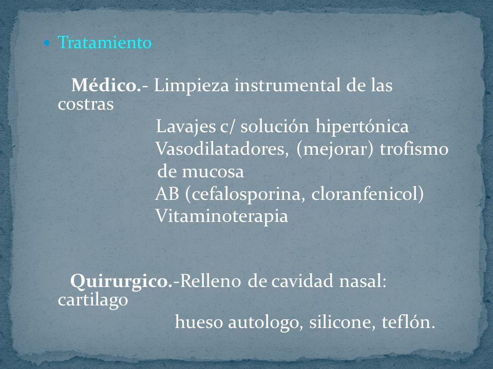 Lavajes c/ solución hipertónica Vasodilatadores, (mejorar) trofismo