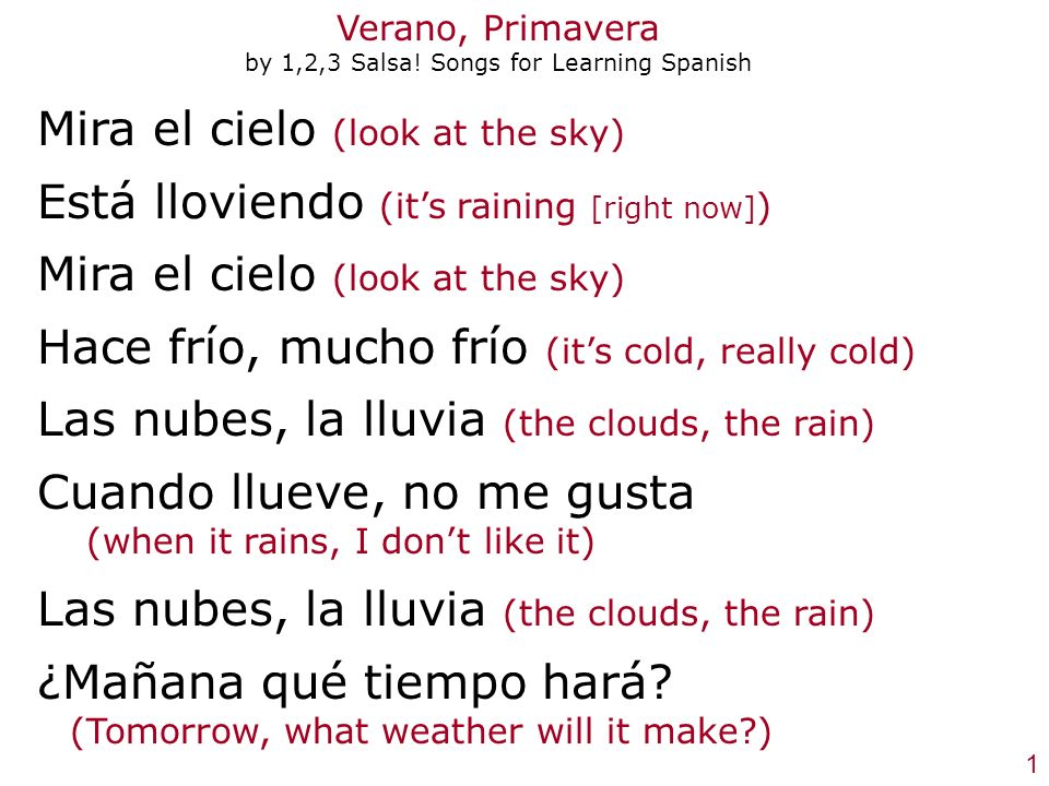 Verano, Primavera by 1,2,3 Salsa! Songs for Learning Spanish