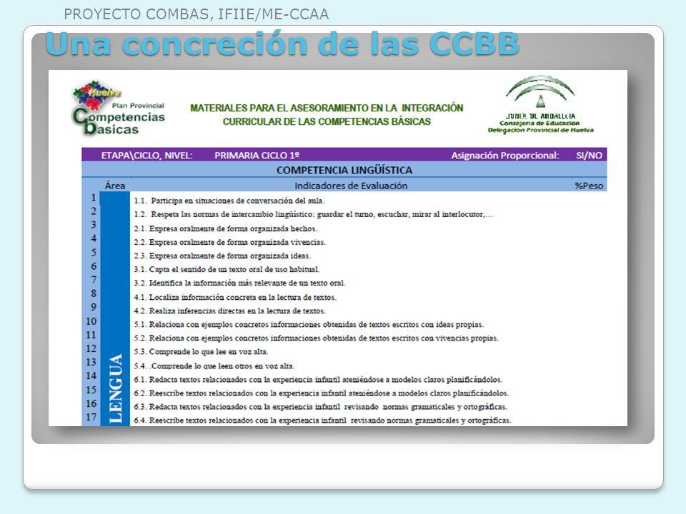 Una concreción de las CCBB